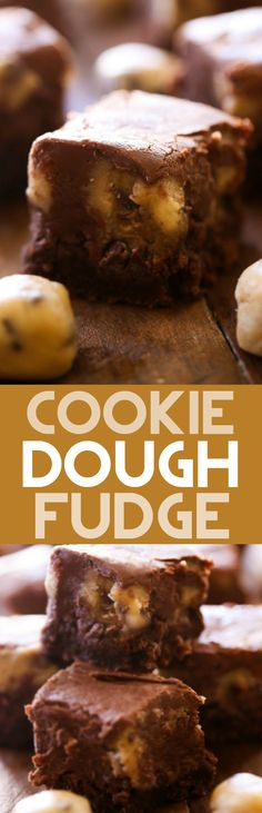 Cookie Dough Fudge.. A creamy chocolate fudge with bite sized pieces ...