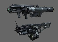 (Scroll down) A assortment of post-contemporary weapon concepts