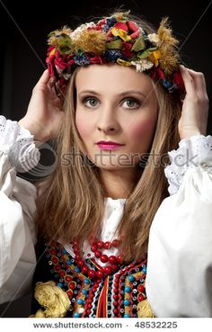 Polish Culture-the one I most identify with. Grew up in a Polish neighborhood and belonged to a Polish Parrish Church and attended Parochial School there too. Wonderful people, food etc. Polish Folk Art, Polish Recipes, Cultural, My Heritage, People Around The World, Traditional Dresses, Holidays And Events, Stock Photos, Beauty
