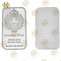 Scottsdale Silver 999 Fine Silver One Troy Ounce 1 Bars Bullion In God We Trust Coin With Display Case Wish Bullion Fine Silver Coin Design