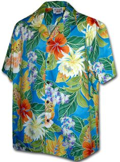 Paradise Jungle Blue Pacific Legend Hawaiian Aloha by PineDays