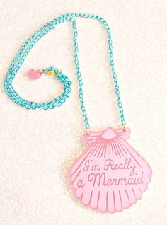 """Mermaid Jewelry  """"I'm Really a Mermaid"""" by ilovecrafty. This is such a cute gift for a little flower girl #beachwedding"""