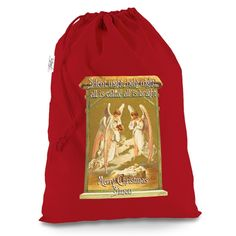 Victorian Christm...  Creating Art on clothing just as unique as you are    Now Available at http://inkrocks.com/products/victorian-christmas-angels-personalised-red-christmas-santa-sack-mail-post-bag?utm_campaign=social_autopilot&utm_source=pin&utm_medium=pin