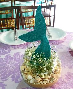 Mermaid Theme Birthday, Little Mermaid Birthday, Little Mermaid Parties, Baby Mermaid, Mermaid Party Decorations, Birthday Party Decorations, Mermaid Bridal Showers, Mermaid Crafts, Diy And Crafts