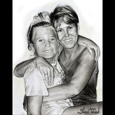 Liesel Wessels is a South African Portrait artist that specialize in realistic drawings & paintings. Work mainly in Oil Paint, Pencil, & Soft Pastels Mother Daughter Art, Make Your Own Sign, South African Art, Home Tattoo, Painted Wood Signs, Realistic Drawings, Cute Tattoos, Paper Size, Memories