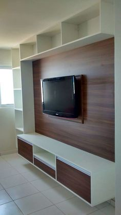 tv wall unit decoration ideas Modern Tv Room, Modern Tv Wall Units, Modern Living, Tv Cabinet Design Modern, Small Living, Modern Design, Tv Unit Decor, Tv Wall Decor, Wall Tv