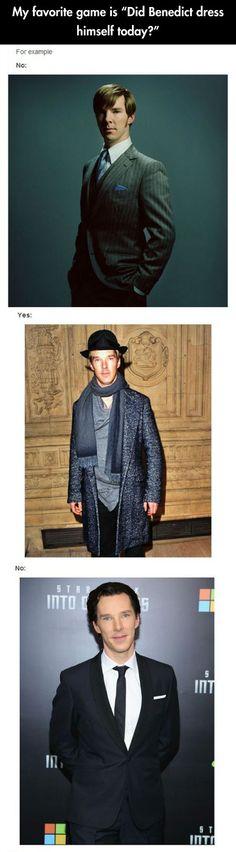 Did Benedict dress himself today