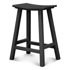 "Check out the PolyWood 2001-BL Traditional 24"" Saddle Bar Stool priced at…"