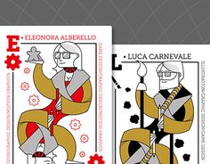 "Check out new work on my @Behance portfolio: ""Queen & King - Business cards…"