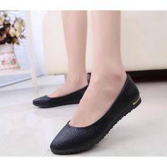 Ballerina Shoes For Women Slip On Faux Leather Solid Womens Ballet Flats Casual Comfort Autumn Ladies Loafers Shoes Wholesales