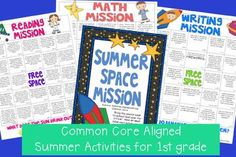 Summer Activity Grids aligned with the Common Core to send home on the last day of school!