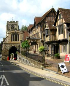Warwick, England (my favorite part is the tea this way sign - beautiful half timbered buildings can't compete with caffeine).