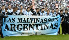 Argentina's football team inflamed its rivalry with England on the eve of the World Cup, unfurling a banner claiming sovereignty of the Falkland Islands before beating Slovenia in a friendly. World Cup 2014, Fifa World Cup, Information About Brazil, Argentina Players, Poetry Day, Sporting Live, International Football, Australia Day, Watch Tv Shows