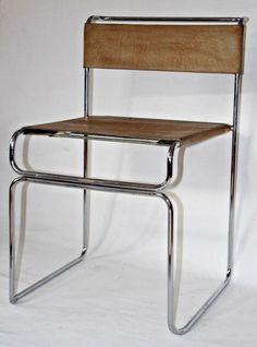 Vintage Mid Century Planula Dinner Chair by Giovanni Carini, Leder Chrom Mid Century Style, Cabana, Bar Stools, 1970s, Dinner, Chair, Lighting, Vintage, Furniture