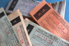 15  Vintage New York Bus Tickets NY   Broadway by VintageInkPrints