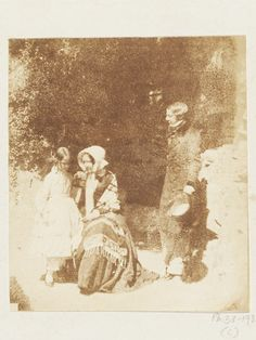 Family Group, 1845. Salted paper print from a calotype negative.