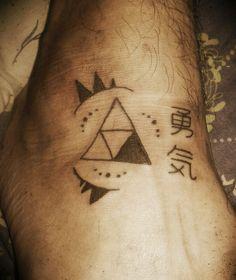 Zelda Coraje tattoo Valor Triforce