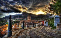 дома, старые, улицы, красивые, красочные, цветы, дорога, архитектура, закат…