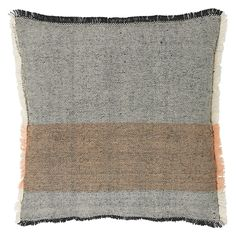 CARLY Grey and pink cotton jute cushion 50 x 50cm