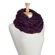 Eggplant chunky knit infinity scarf - New #CowlInfinity