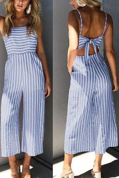 SPECIFICATIONS: Product Name Sexy Stripe Sleeveless Bowknot Jumpsuit Color Pink/Blue SKU Gender Women Style Elegant/Sexy/Fashion Type Jumpsuit Occasion Party/Vacation/Daily Life Material Polyester fiber Sleeve Sleeveless Product No. Jumpsuit Outfit, Casual Jumpsuit, Striped Jumpsuit, Summer Jumpsuit, Bandeau Jumpsuit, Jumpsuit Style, Black Jumpsuit, Stylish Outfits, Cute Outfits