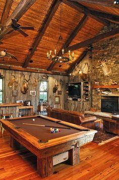 Game Room eclectic basement
