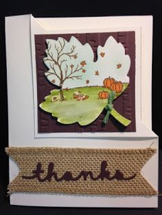 My Creative Corner!: A Happy Scenes Thanksgiving Card Corner Fold Technique