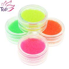 Floresan renk havyar tırnak süslemeleri kit takılar boncuk malzemeleri çivi 4 botter/set 3d diy tırnak sanat takı Çıtçıt zp230