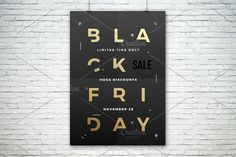 Black Friday Poster or Flyer by createvil on @creativemarket