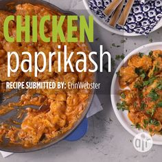 Chicken Paprikash – Global Inspiration – Home Recipe Hungarian Cuisine, Hungarian Recipes, Hungarian Food, Croatian Recipes, Butter Chicken, Chicken Paprikash With Dumplings, Hungarian Chicken Paprikash, Cooking Recipes, Healthy Recipes