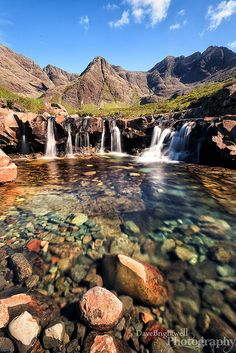 The beautiful Fairy Pools near Glenbrittle on the Isle of Skye, Scotland