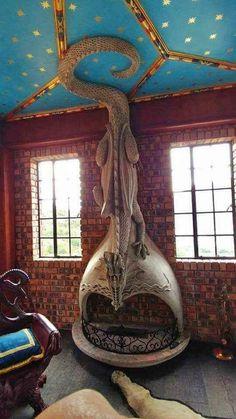 Dragon fireplace