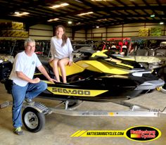 Thanks to Michael and Courtney Lombardino from Covington LA for getting a 2016 Sea Doo GTR 215 and a Magic Tilt trailer. @HattiesburgCycles