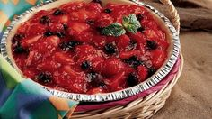 Your oven stays off for this easy two-step pie.  The result is a cool kitchen and a pie that explodes with fresh fruit!