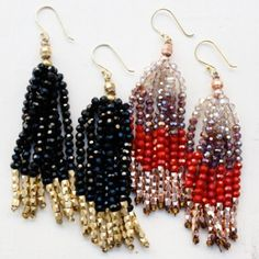 Nakamol Tassel Beaded Earrings $54