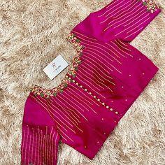 Patch Work Blouse Designs, Maggam Work Designs, Princess Cut Blouse, Designer Blouse Patterns, Dress Patterns, Orange Saree, Silk Saree Blouse Designs, Embroidered Blouse, Studio