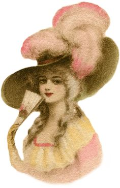 huge ladies hats | ... large hat lady image featured above is a pretty lady dressed in pink