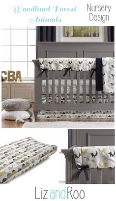 Fox Den Indigo Multi Perless Crib Bedding Themed Nurserynursery Themesnursery Ideasforest