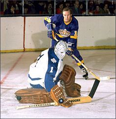 Legends of Hockey - Spotlight - One on One with Jacques Plante ( informational link under construction. Hockey Goalie Pads, Bernie Parent, Martin Brodeur, Maple Leafs Hockey, Goalie Mask, Hockey Games, Vancouver Canucks, Toronto Maple Leafs, Montreal Canadiens