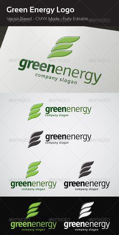 Green Energy - Logo Design Template Vector #logotype Download it here: http://graphicriver.net/item/green-energy-logo/3828401?s_rank=1457?ref=nesto