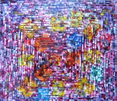 CAUGHT IN A MAZE III (Outdoor Photo) Original Oil Painting 30 x 30 by John Robert Jurisich