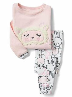Shop Gap for comfortable and adorable baby girl pajamas. Find pajamas sets for baby girls, footed one-piece styles and robes in a variety of colors and prints. Cute Pajama Sets, Cute Pajamas, Pajamas Women, Kids Fashion Blog, Toddler Fashion, Boy Fashion, Fashion Pics, Fashion Clothes, Toddler Girl Outfits