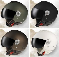 By Andrew Liszewski I'm sure the thrill of riding a motorcycle can't really compare to . Read more Diesel Motorcycle Helmets Will Make You Look Like A Fighter Pilot Vespa Helmet, Bicycle Helmet, Bike Helmets, Custom Motorcycle Helmets, Motorcycle Gear, Diesel, Biker Accessories, Sports Helmet, Mens Toys
