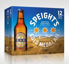 Speight's Gold Medal Ale Packaging