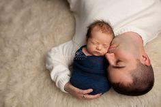 father son newborn pose
