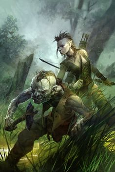 goblin + half elf by *michalivan on deviantART