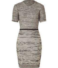 Black and Ecru Tweed Wool Nico Dress