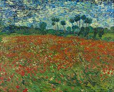 Vincent van Gogh - Poppy Field, 1890, oil on canvas