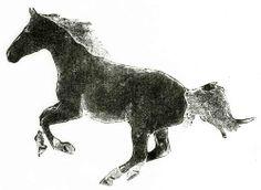 Ciara Houlihan Illustration Portfolio Horse Collograph Print on Japanese Washi Paper