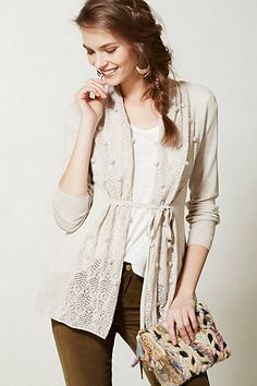 Kose Sweater #anthropologie this also has nice details see the back inset knitted lace panel.